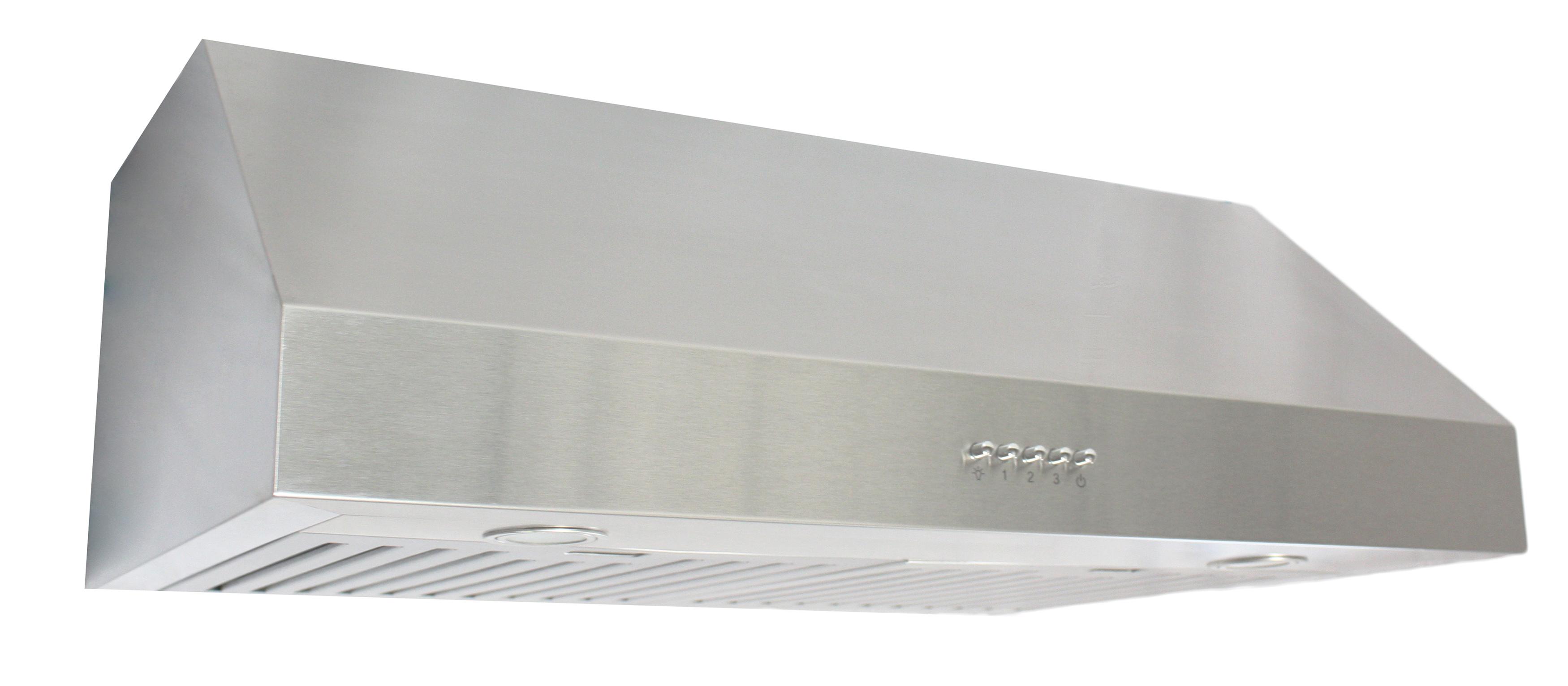 Steel Cowl Hoods ~ Quot under cabinet range hood stainless steel w baffle